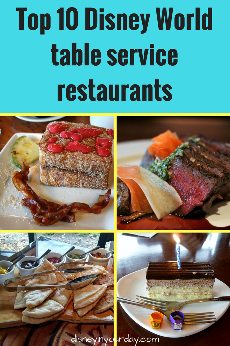 Becky S Top 10 Table Service Restaurants At Disney World In Your Day