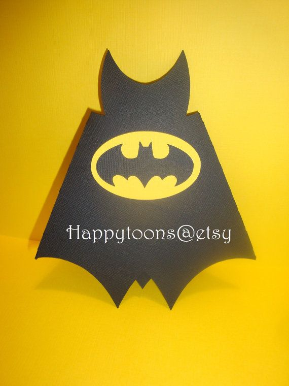 Batman birthday party invitations set of 8 super hero Batman