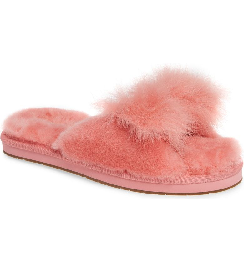 8d3681ea0a07f9 Free shipping and returns on UGG® Mirabelle Genuine Shearling Slide Slipper  (Women) at