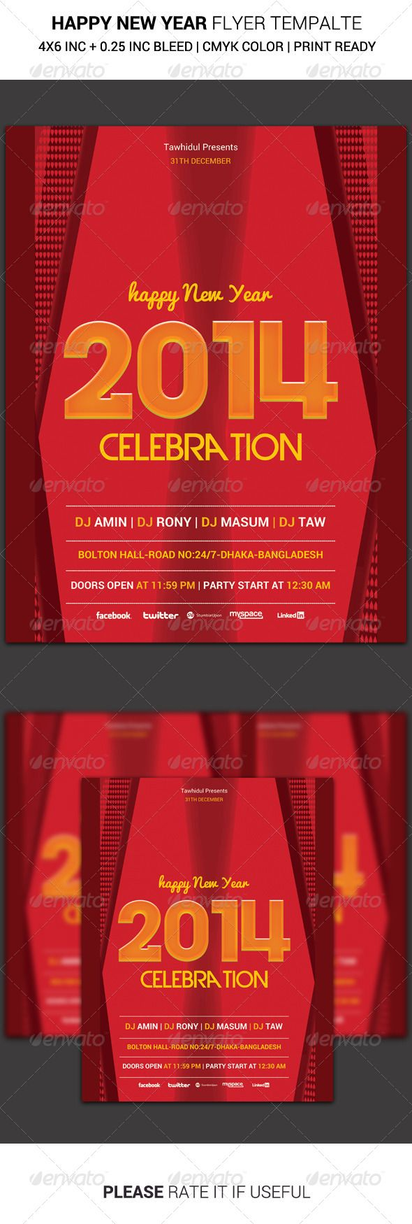 New Year Flyer  Graphicriver This Is Retro New Year Party Flyer