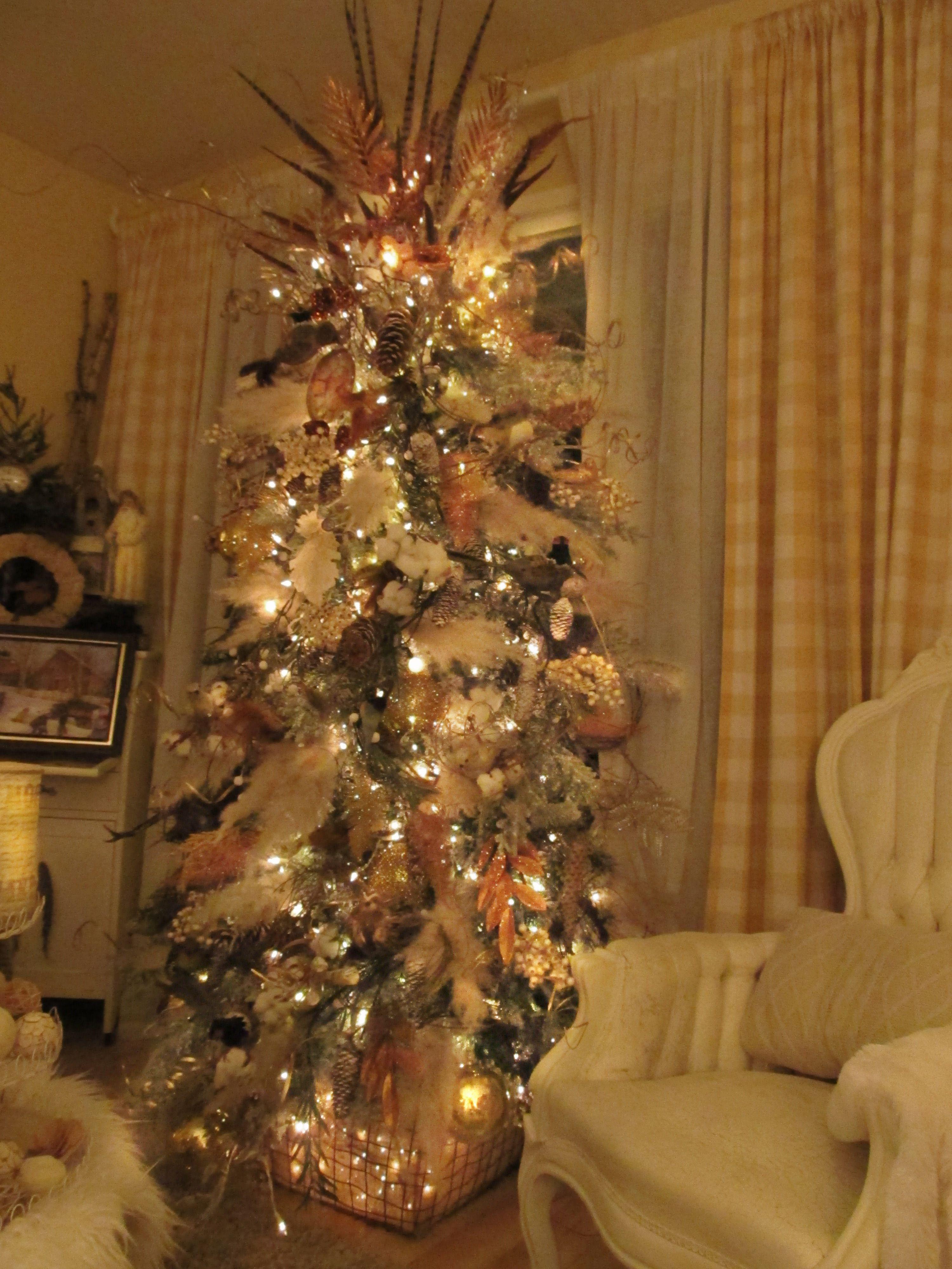 Pampas Grass Woodland Christmas Tree