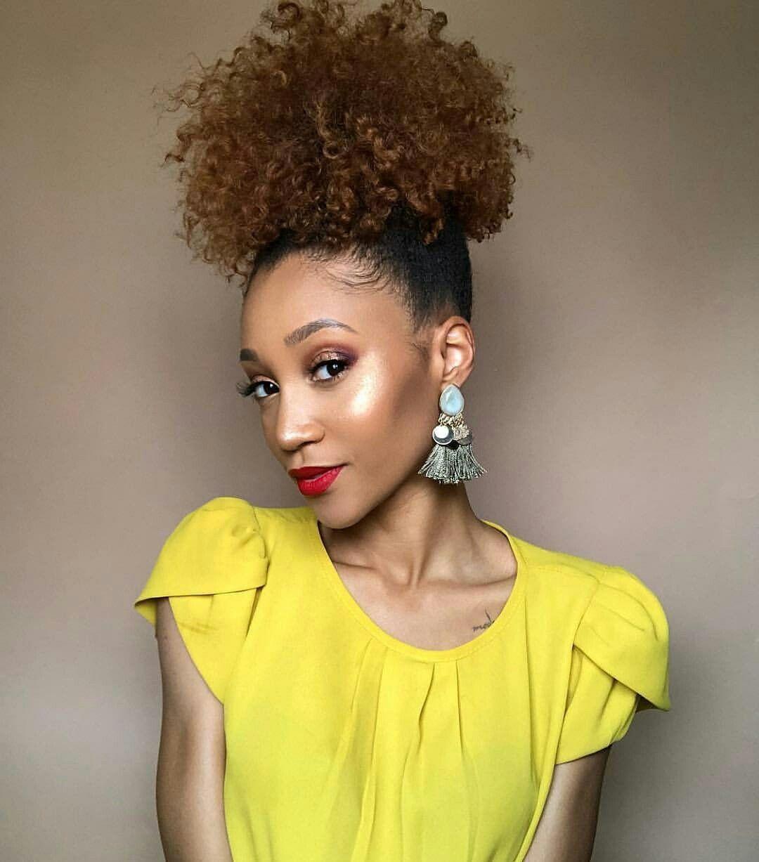 High puff perfection @modelesque_nic.   Natural hair ...