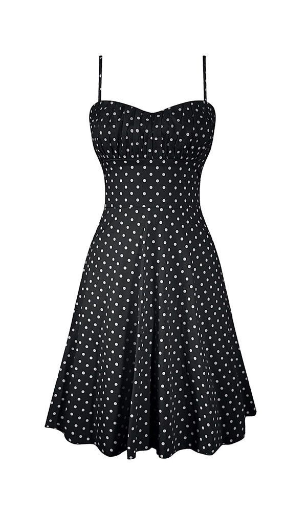 ce589ec318 -line, polka dot dress, beautiful fit, Smocking back, ruched bust,  impeccable…
