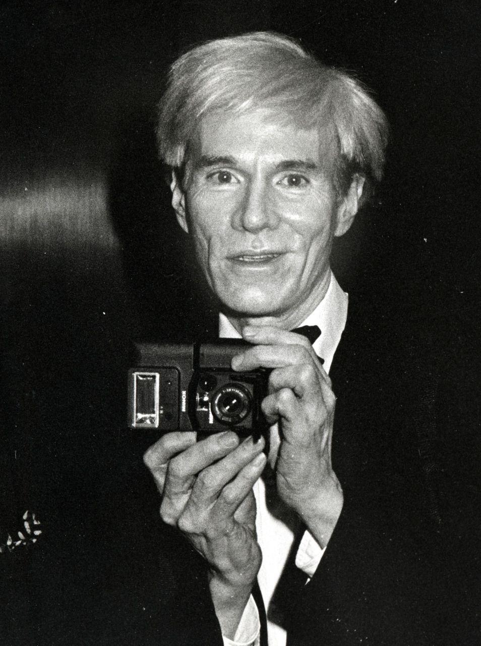 Andy Warhol (Celebrity Camera Club). #Photography #Photographer #Camera