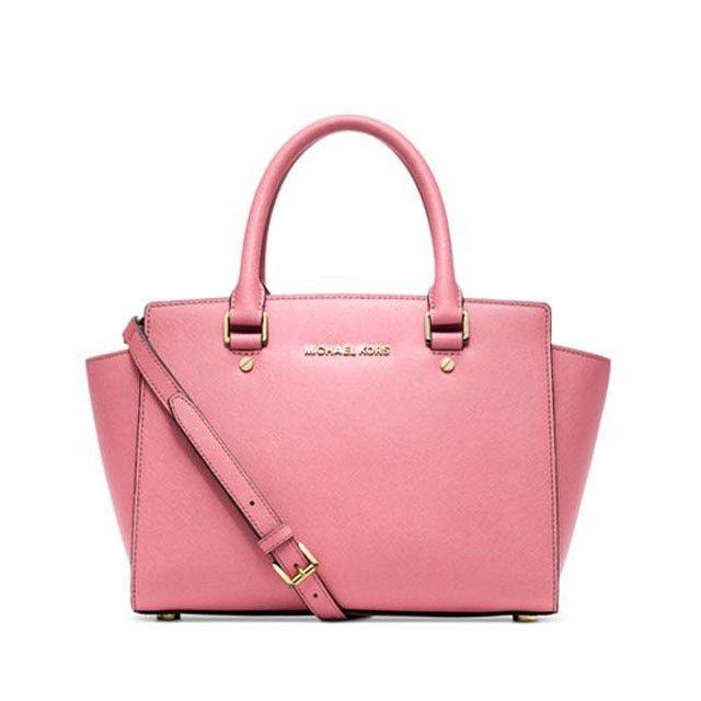 12c4b9687429c MICHAEL Michael Kors Selma Saffiano Leather Medium Large Satchel Pink