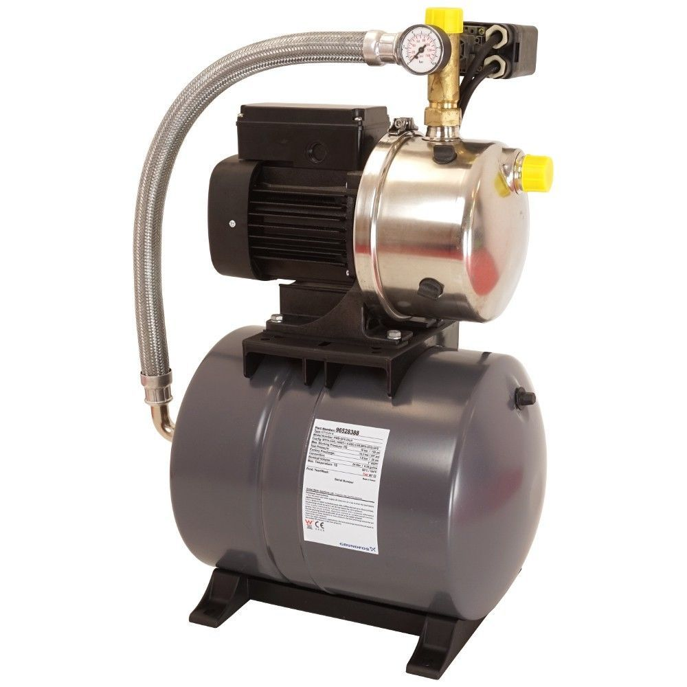 grundfos hydrojet jp5 mit 24 liter membrandruckkessel hauswasserwerk
