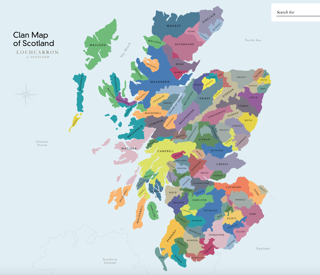 edited take a look at this lovely interactive clan map of scotland at httplochcarroncoukclanmap we have over 160000 high resolution zoomable