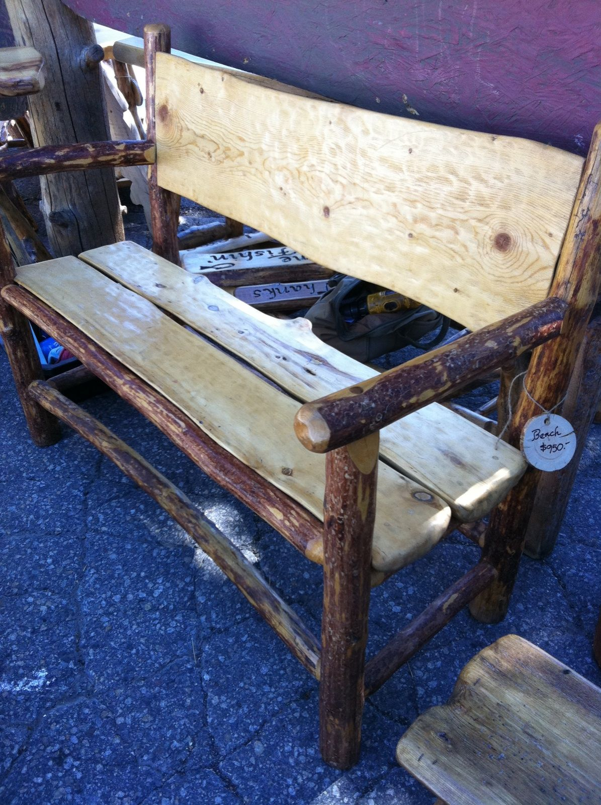 Log Furniture   Custom Bench   Brent Taylor, Artist   Cabin Creek Log  Furniture, Mammoth Lakes, Bishop Area And This
