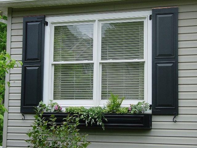 Another Black Shutter Window Box Exteriors House