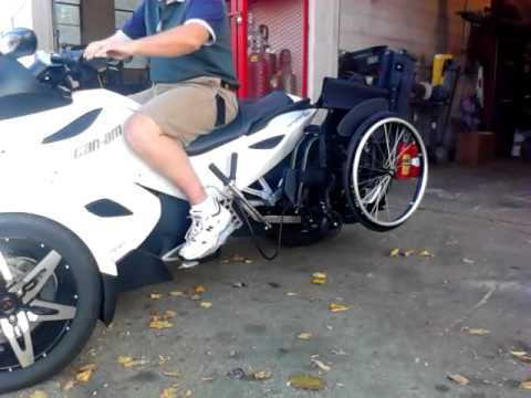 NEW Motorcycle wheelchair lift BRP Can-am Spyder - YouTube