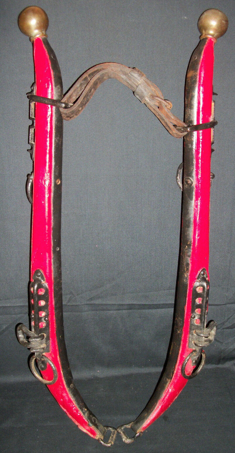 Best Details About Antique Primitive Horse Mule Hames Wood Iron 400 x 300