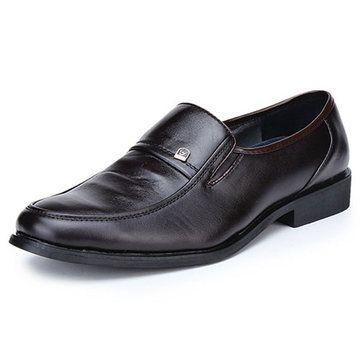 Hombres de estilo británico Pure Color Clásico Moc Toe Zapatos Casual P4tbi