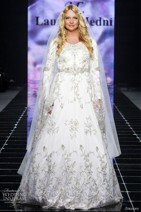 russian wedding dress designed by fashion designer sisters from chechnya laura and medni arzhiyeva