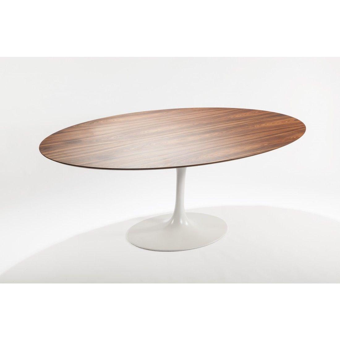 Tulip Dining Table Oval Walnut Veneer Walnut Veneer And Room - Walnut tulip dining table
