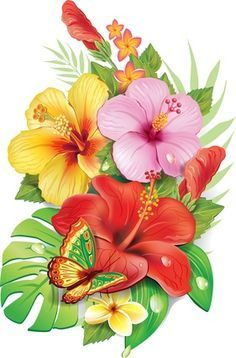 Tropical Flower Tattoos on Pinterest | Exotic Flower Tattoos ...