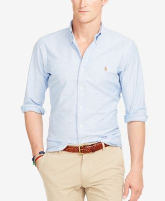 e25277e51f Polo Ralph Lauren Slim-Fit Stretch-Oxford Shirt $98.50 This handsome button-down  shirt is crafted from soft stretch cotton oxford and tailored for a slim,  ...