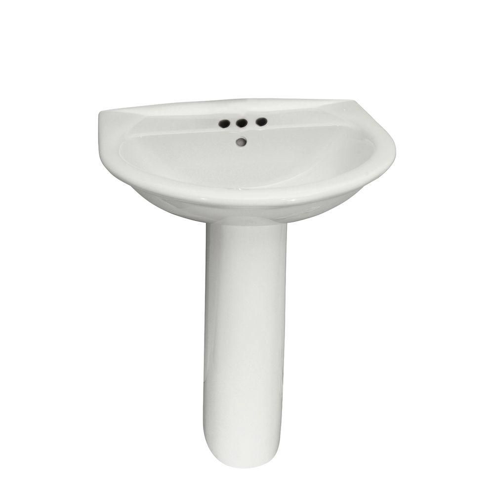 Barclay Products Karla 605 Pedestal Combo Bathroom Sink In White 3
