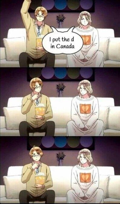 Hetalia~ America, France, Canada--Amecan,Franada