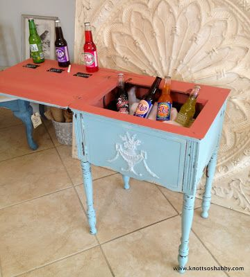 This Old Sewing Table Was About To Get Trashed Until She Got A