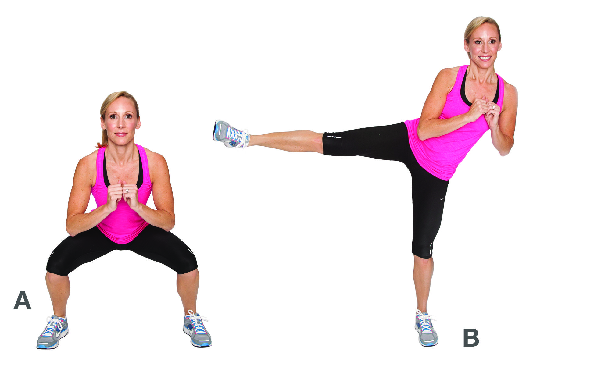 Image result for Squats with Side Kicks