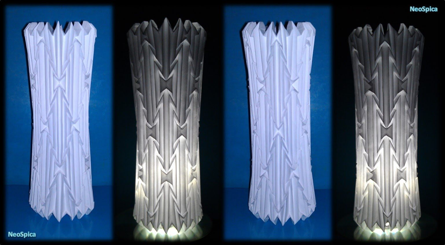 Tutorial 16 cylinder lamp shade folded paper origami tutorial 16 cylinder lamp shade folded paper mozeypictures Image collections