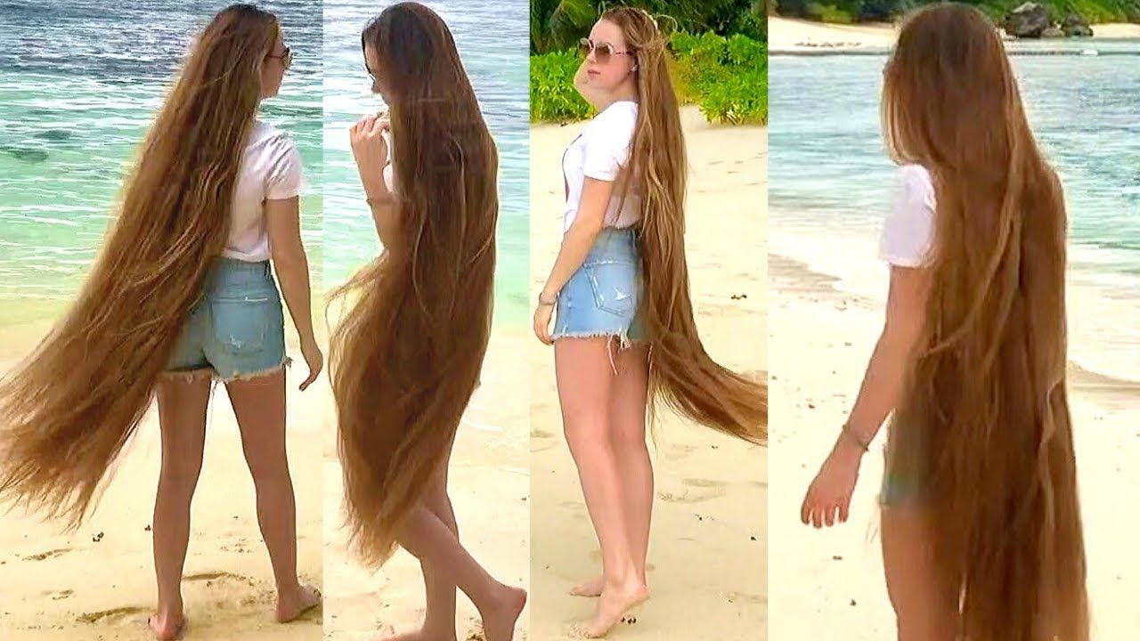 Realrapunzels Tropical Long Hair Walk Preview In 2020 Long Hair Styles Long Hair Video Hair