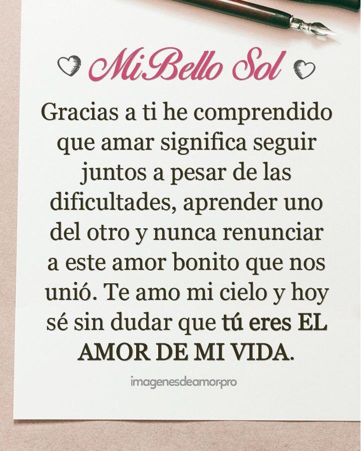 Carta para el amor de mi vida is part of Love quotes for him -