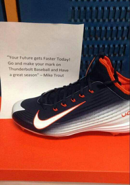 buy online eea3e 0fe23 ... nike lunar vapor customize  2015 cleats customized and donated by Mike  Trout   Nike Baseball. My son and the ...