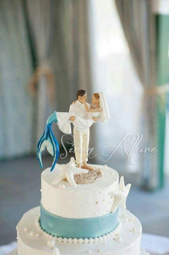 Perfect Mermaid Wedding Cake Topper Wedding Cake Toppers Beach