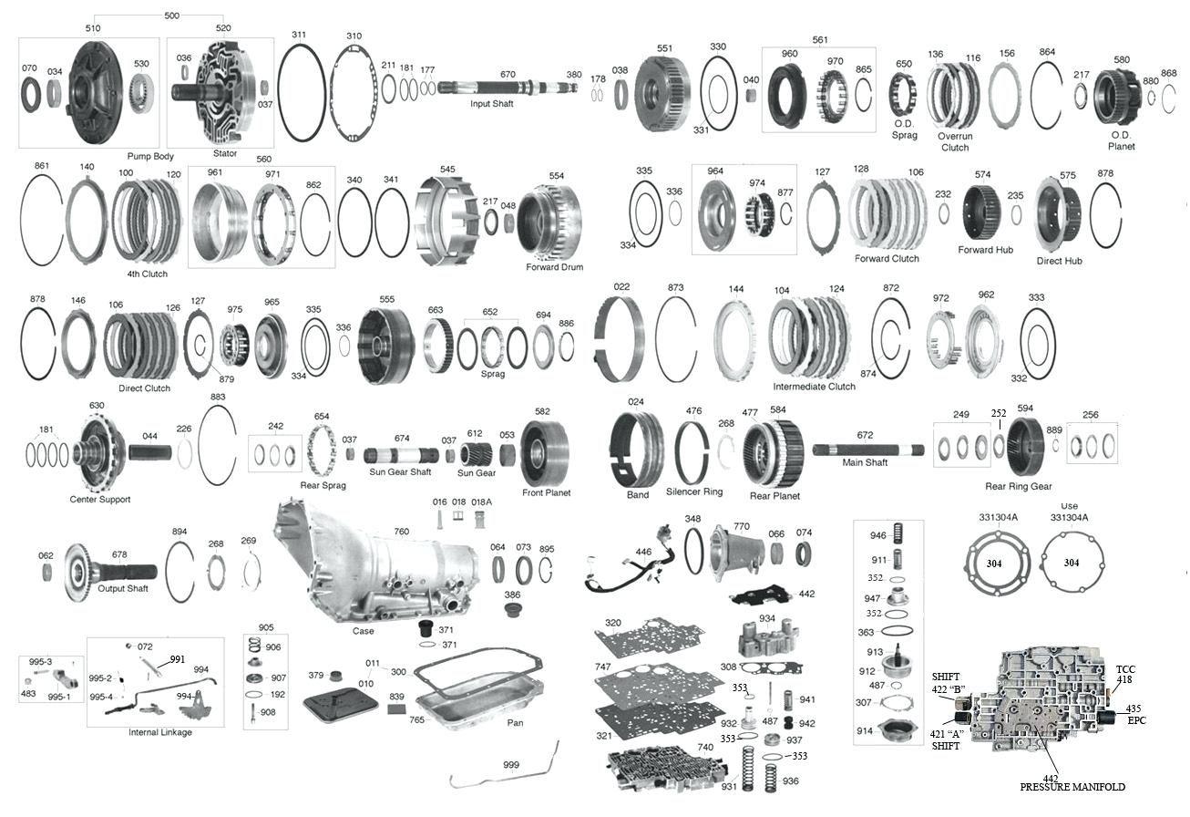 Parts Diagram For 4l80 E Transmission