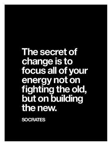 Art Print: The Secret of Change (Socrates) by Brett Wilson : 40x30in