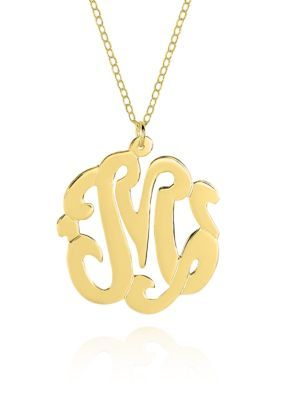 Belk Co Women 10k Yellow Gold M Monogram Necklace Yellow Gold Monogram Necklace M Monogram