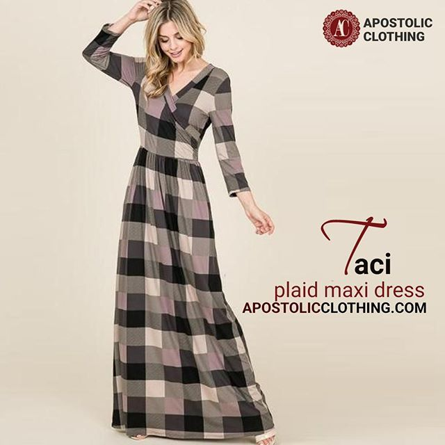 Traci Takes Plaid To A Modern And Classy Level This Amazing Dress