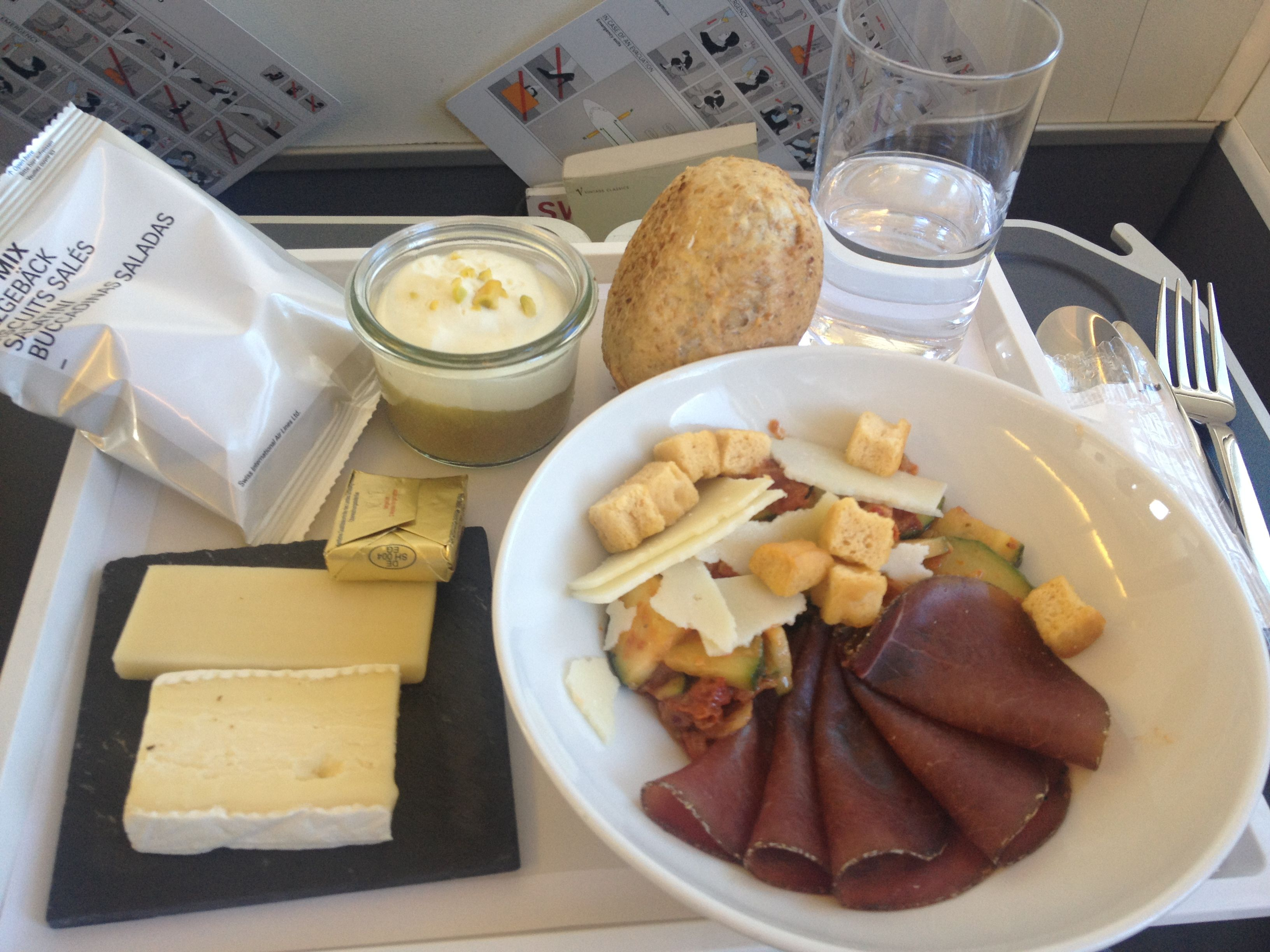 Dinner In Business Class On The Basel To London City Route