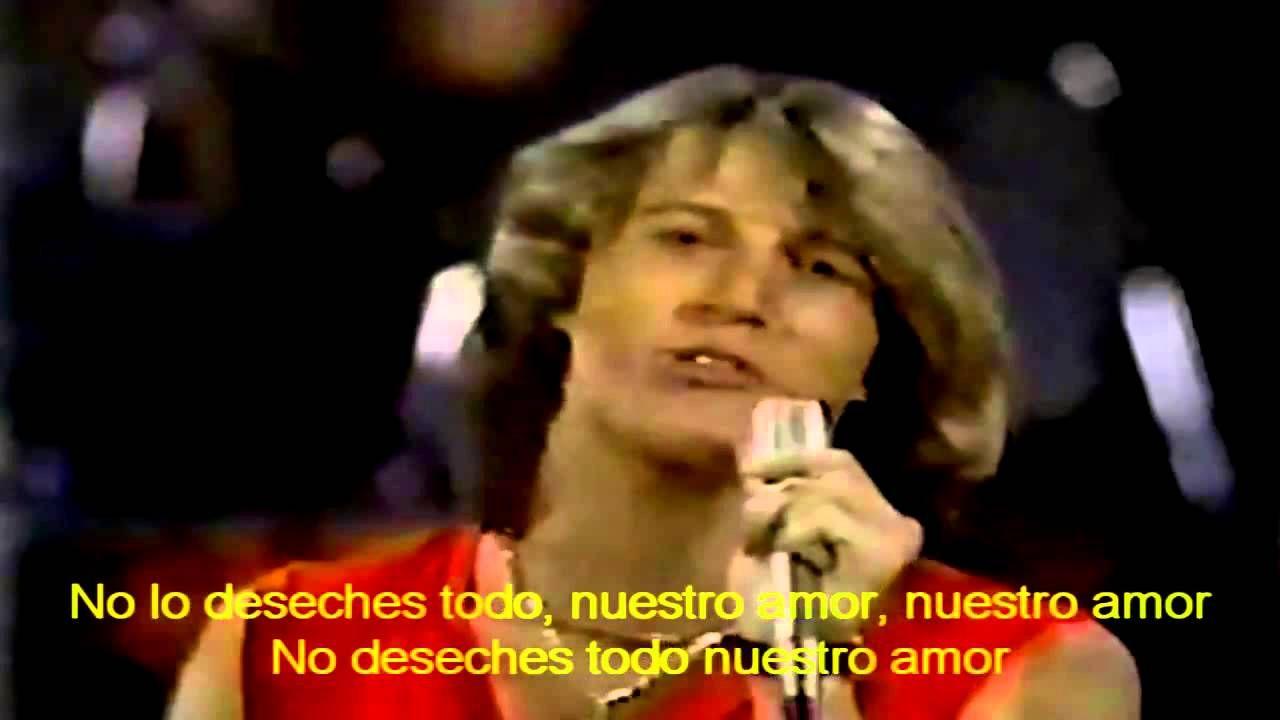 ANDY GIBB - (Our love) Don't throw it all away-Subtitulos en Español - YouTube