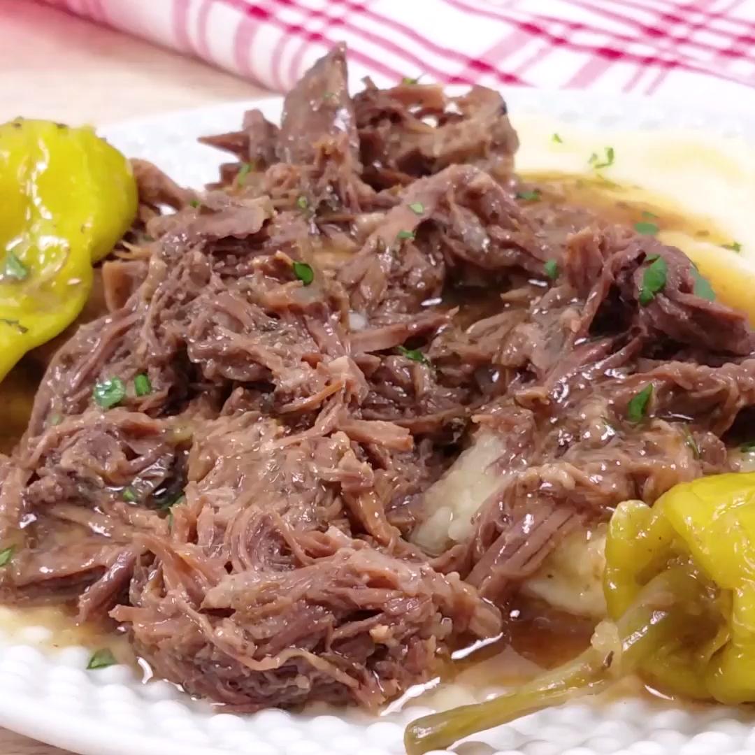 The Best Mississippi Pot Roast Recipe #healthydinnerrecipesvideos