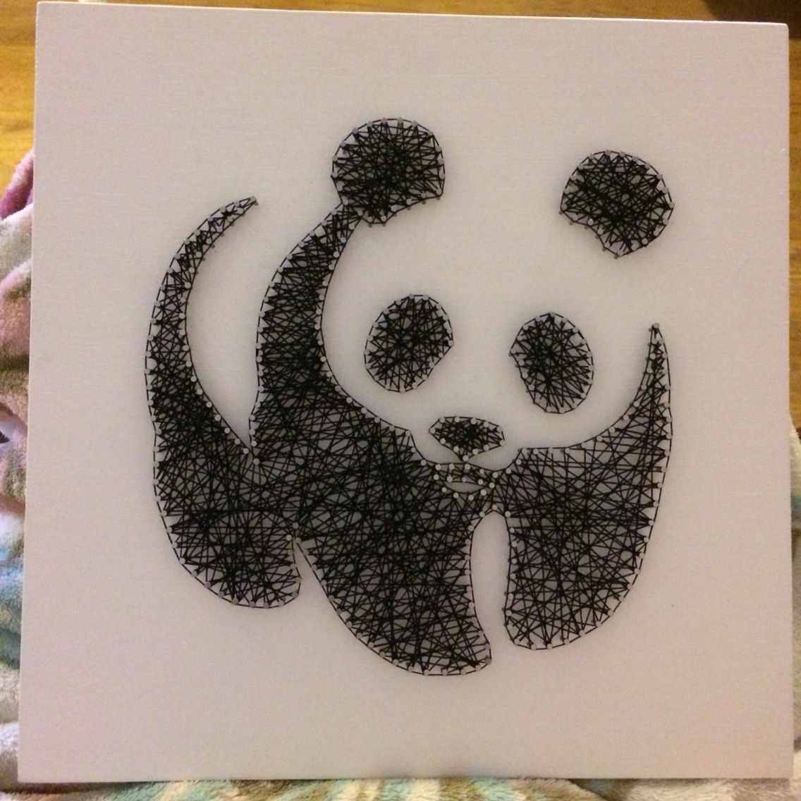 String art panda, 30x30cm | Crafts | Pinterest | Fadenkunst ...