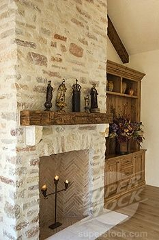 Light Stone Fireplace Love The Tile In The Fire Chamber