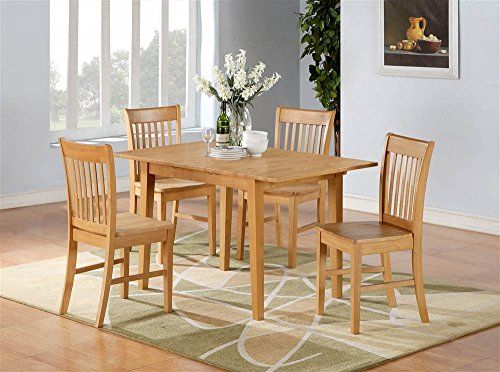 5Pc Rectangular Dining Table And Chair Set  Kitchen Diner Mesmerizing Small Rectangular Kitchen Table Decorating Inspiration