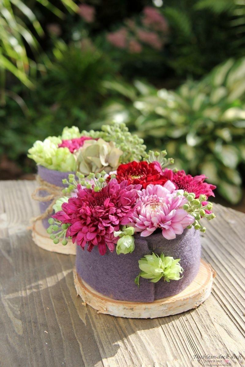 Das geht fix No. 16 - herbstliche Blumentörtchen #herbstlichetischdeko