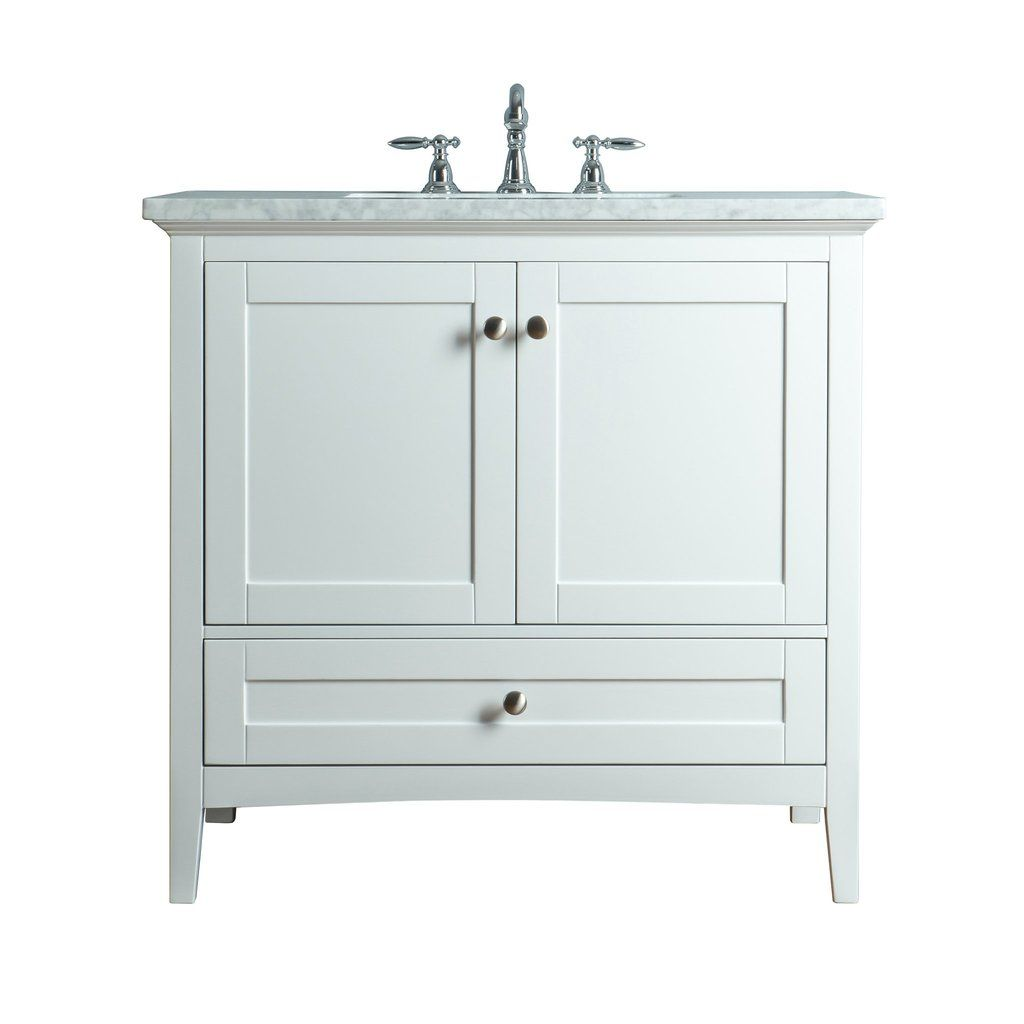 Tower Modern 36 In 2019 White Vanity Bathroom Single Sink