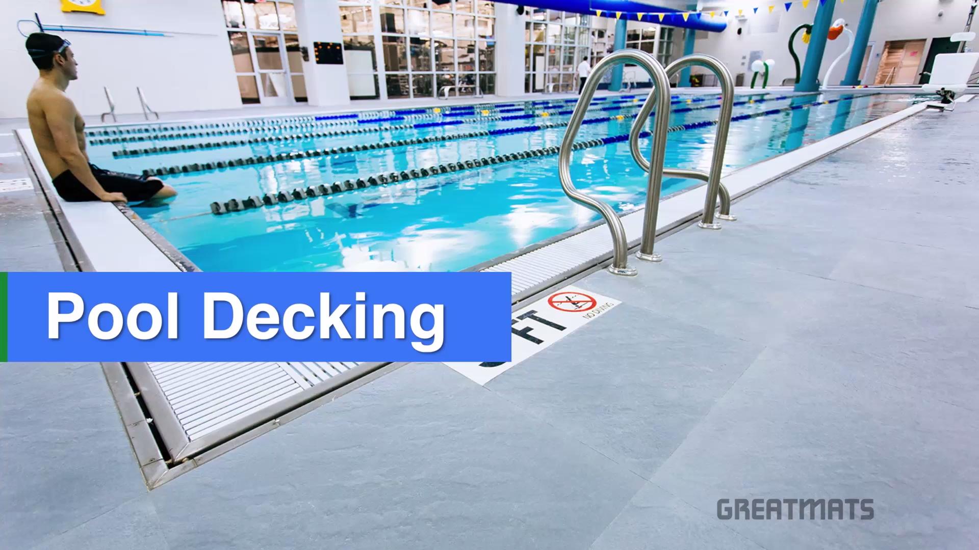 Pool Decking Video Pool Deck Pool Deck Tile Pool Decks
