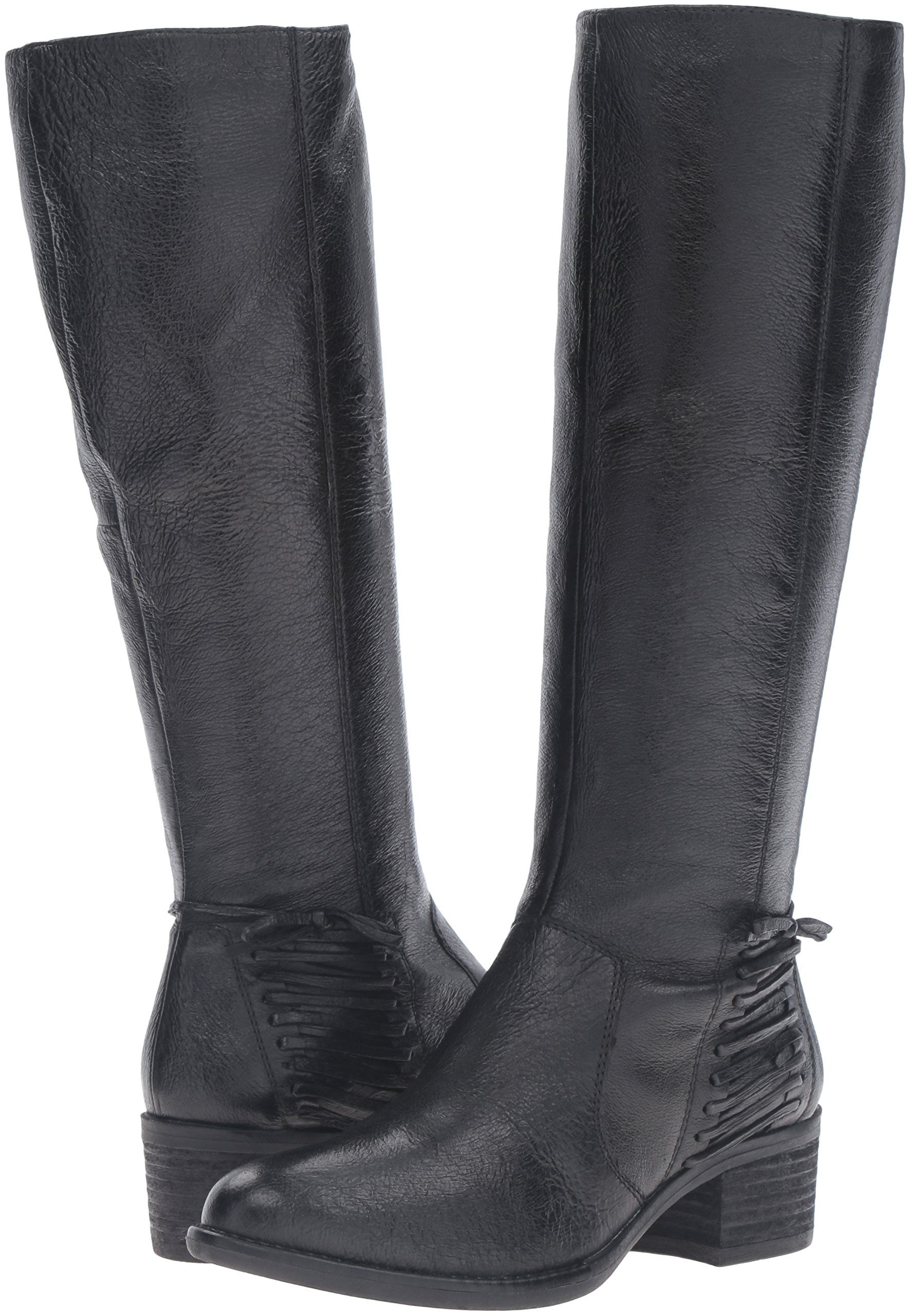 e8d1aace1b2 Steve Madden Womens Lonnny Riding Boot Black Leather 6.5 M US     Click  image