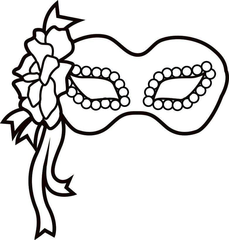photo regarding Printable Mardi Gras Masks titled black and white Exquisite Masquerade Mask Clip printable