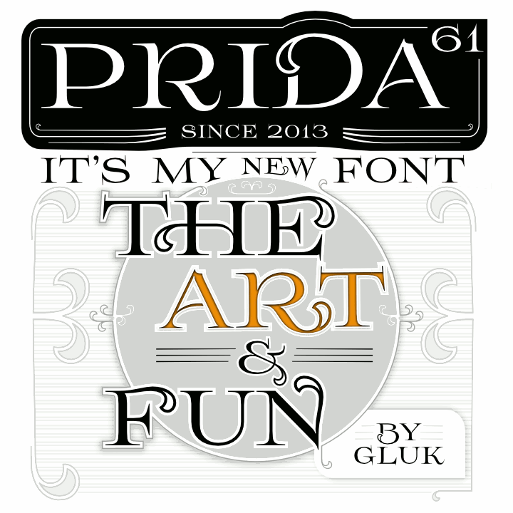 Prida61 Font by gluk Free fonts for designers, Free font