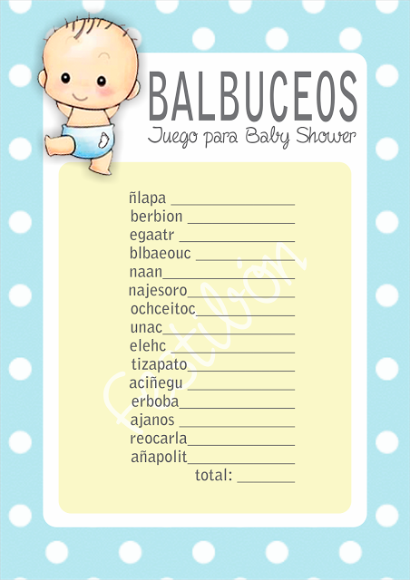 Juego Para Baby Shower Babyshowers Pinterest Baby Shower