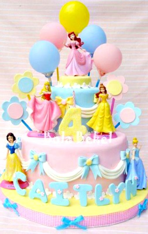 Princess Cake Cakes And Cupcakes For Kids Birthday Party Cake