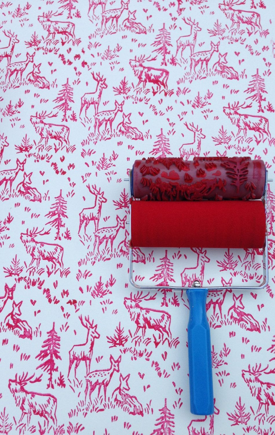 Wallpaper Paint Roller patterned paint roller in aspen frost design from not wallpaper