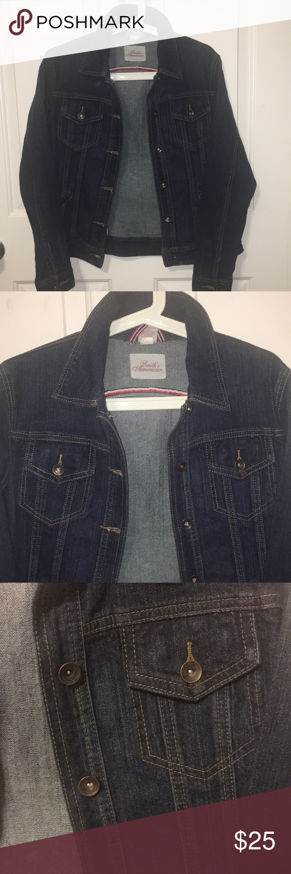 Smith S American Denim Jacket Dark Blue Stretch American Denim Denim Jacket Jackets [ 1740 x 580 Pixel ]