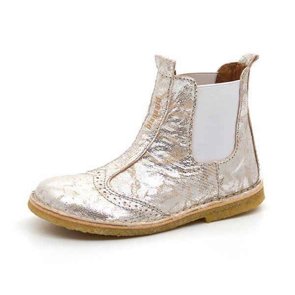- Bisgaard elastik støvlet m. hulmønster sølv